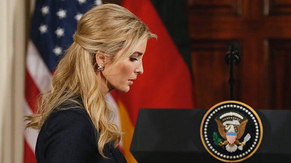 """Ivanka Trump, la hija mayor del presidente de los Estados Unidos, es nombrada como """"asistente especial del presidente"""". Foto: Jim Bourg/ Reuters."""