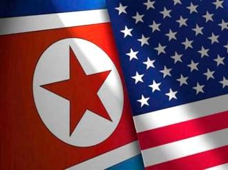 Resultado de imagen para Corea del Norte y EEUU banderas