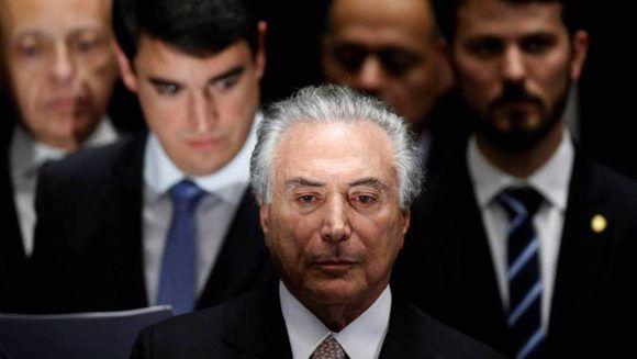 El presidente brasileño Michel Temer. Foto: Ueslei Marcelino/ Reuters.
