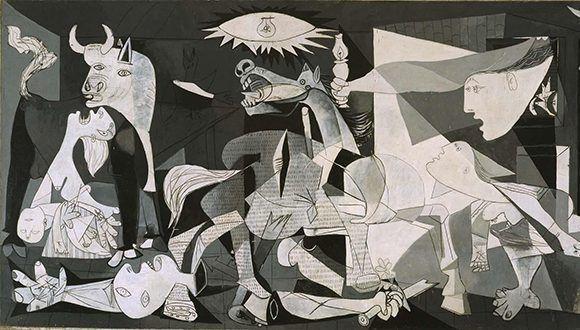 Fragmento del Guernica. Foto tomada de Museo Reina Sofía.