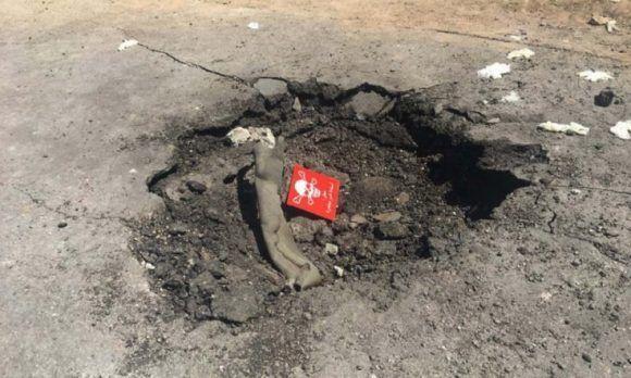 Imagen de un supuesto cráter del ataque con armas químicas en Khan Sheikhoun, Siria. Foto: Redes Sociales