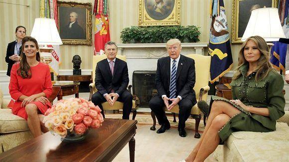 El presidente de los Estados Unidos junto a su homólogo argentino. Foto: Reuters.