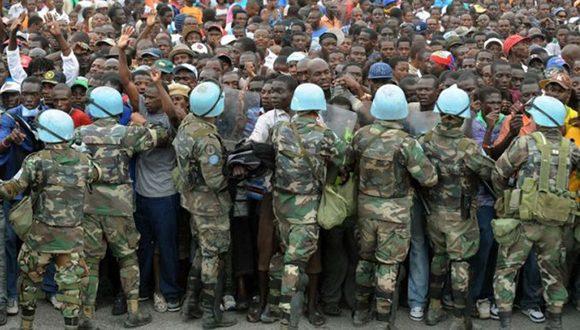 Las tropas de la ONU han sido cuestionadas en Haití por supuesta violaciones de los derechos humanos. Foto: Archivo.