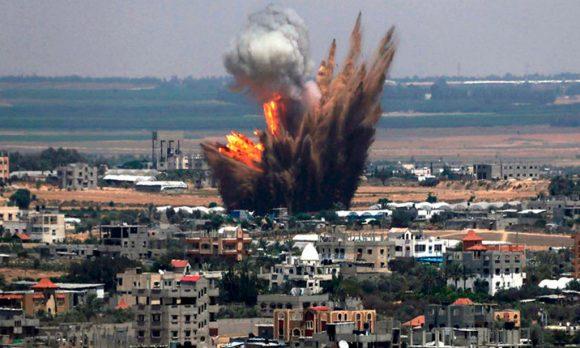 Bombardeo en Siria. Foto: Archivo.