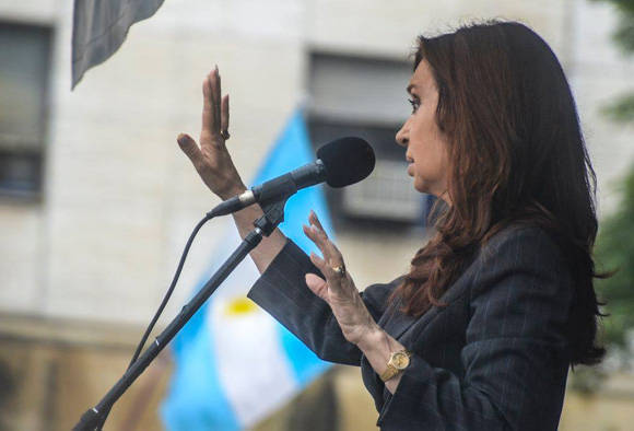 Cristina hizo referencia a varios temas claves en su discurso. Foto: Kaloian/ Cubadebate.