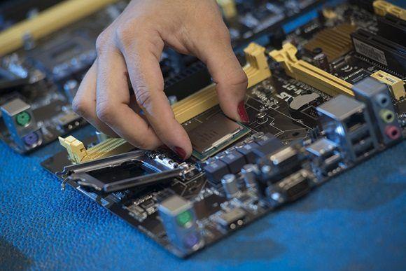 Industria electrónica cubana.