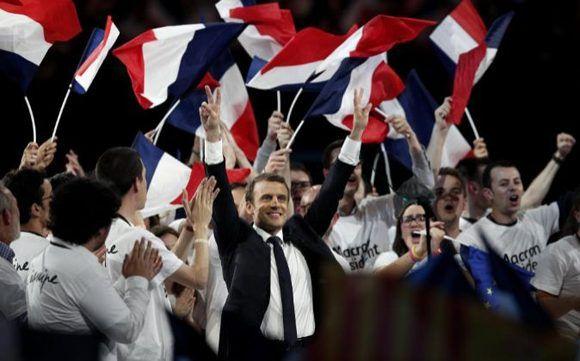 Macron gana las presidenciales francesas con el 65% de los votos. Foto: EFE.