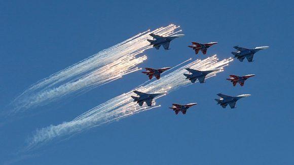 Celebraciones por el Día de la Victoria en Rusia. Foto: Reuters.