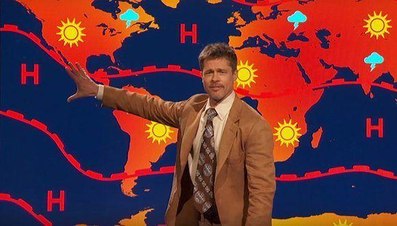 """Brad Pitt """"explica"""" las condiciones climáticas para criticar a Donald Trum. Foto: Catura de pantalla/ Camedy Central/ Youtube."""