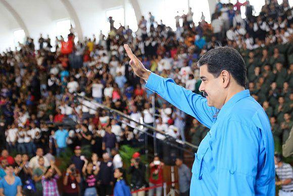El objetivo de la derecha venezolana es derrocar a Maduro mediante la violencia. Foto: @PresidencialVen.