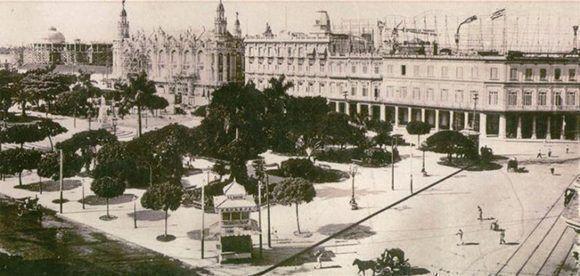 Imagen de 1915. En la extrema izquierda se ve El Capitolio en construcción. Foto tomada de Habana Radio.