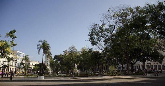 El Parque Central de La Habana, restaurado. Foto: Alexis Rodríguez/ Habana Radio.