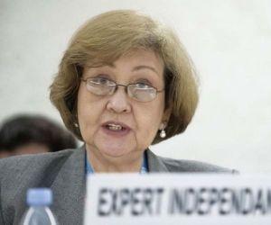 La Experta Independiente sobre derechos humanos y solidaridad internacional de la Organización de Naciones Unidas (ONU), Virginia Dandan. Foto: Archivo.