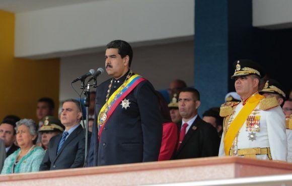 Maduro en el acto por el día de las Fuerzas Armadas. Foto: @PresidencialVen.