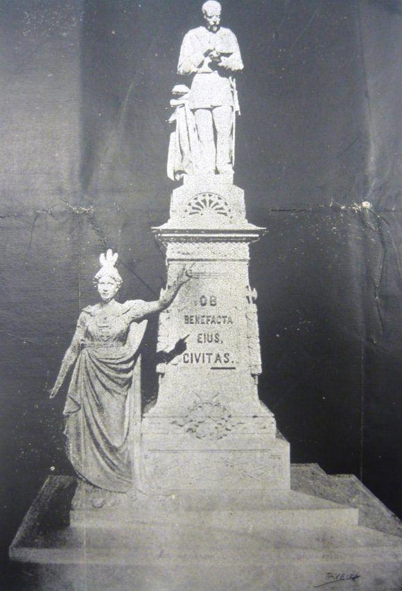 Maqueta del primer proyecto del monumento a Albear (1894). Foto: El Fígaro.