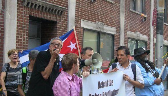 Organizaciones solidarias con Cuba se manifiestan en la ciudad de Nueva York. Foto: Archivo.