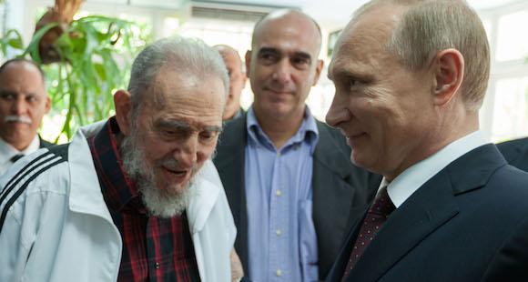 Fidel y Putin en La Habana, en julio de 2014. Foto: Estudios Revolución / Archivo de Cubadebate