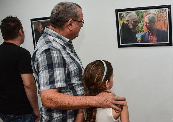 Inauguración de la exposición fotográfica Fidel Retrato Íntimo, de Alex Castro. Foto: Marcelino Vázquez/ ACN.