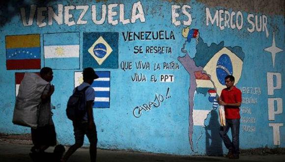 """""""A Venezuela no la sacarán del Mercosur jamás, porque nosotros somos el Mercosur"""", afirmó Maduro este sábado. Foto: Reuters."""